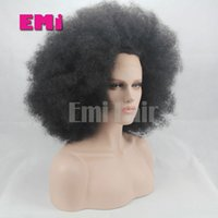 baby afro - Brazilian Synthetic Wig Lace Front Human Wig Afro Kinky Curly Wig Unprocessed Hair Glueless Heat Resistant Wig With Baby Hair