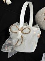 beach articles - New Arrival Beach Flower Basket Wedding Flower Girl Basket For Wedding Ceremoney Coast Articles Party Supplies