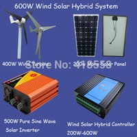 Wholesale 600w wind generator w wind turbine w solar panel v w wind solar inverter w wind solar hybrid controller
