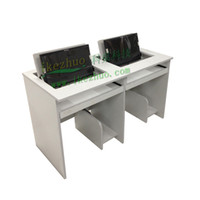 Wholesale Flip computer desk Double turn computer table Turning computer desk in multim