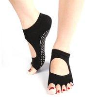 Wholesale 1 Pair Hot Half Toe Five Finger No Slip Socks Women Ankle Durable Yoga Dance Pilates Sock Colors