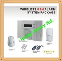 alarm keypad manual - Free DHL or433mhz wireless zones and wired zones gsm alarm system MHz Touch keypad lcd screen with French manual
