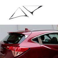 Wholesale Car Styling Rear Window Wind Spoiler Decoration Beveled Cover For Honda HRV HR V ABS Trim Garnish
