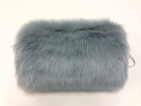 Wholesale Faux Fur Winter Hand Muff Ivory White Black Red Color Cheap Warm Bridal Handwarmers Wedding Gloves Accessories