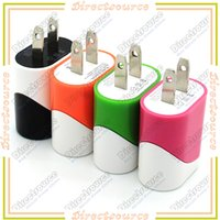 Wholesale Colorful US Plug USB Wall Home Travel Charger AC Charging Adapter For iPhone Plus S iPad Mobile Phone Smartphone