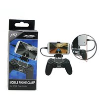 Wholesale DHL PS4 Smart Controller Clip Cell Mobile Phone Clamp Holder For Playstation Game Controller