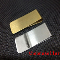 Wholesale Stainless Steel Brass Money Clipper Slim Money Wallet Clip Clamp Card Holder Credit Name Card Holder