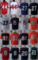 Wholesale Blue White Orange Elite Game Limited Cheap American Jersey Football Jerseys Authentic Stitched