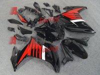 Wholesale Black Red Full ABS Custom Fairings Bodywork kit Yamaha FZ6R