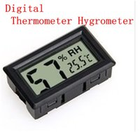 Wholesale 2015 New Mini Digital LCD Indoor Temperature Humidity Meter Thermometer Hygrometer pc