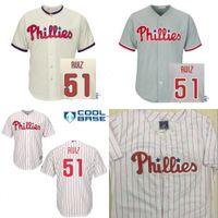 baseball retail - 30 Teams Cheap Carlos Ruiz Baseball Jersey Philadelphia Phillies Youths Jerseys Accept Retail And Mixed Orders Size S XL
