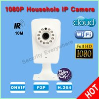 Wholesale 2 Mega Pixel p wifi IP camera wireless infrared nightvision p2p plug play Low Lux two way audio cam