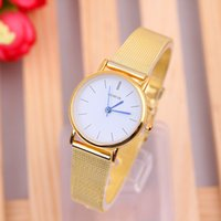 Wholesale GENEVA series of watch women s gold watch with a stylish grid of watches
