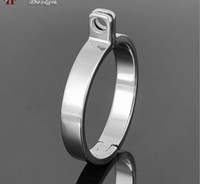 Male Chastity Cage  5 Size New Stainless Steel Cock Ring For Chastity Crafts Metal Male Chastity Device Male Cock cage parts Ring