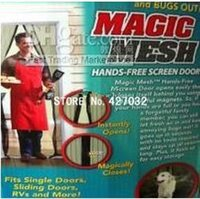 Wholesale Magic Mesh Bugs out Magnetic Hands free Screen door