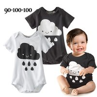 Wholesale summer cloud rompers short sleeved baby cloud rainfalsl bodysuit one piece romper