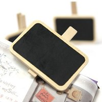 Wholesale 1PCS Mini Wood Blackboard Message Note Memo Board Photo Stand with Clip Kids Chalk Board