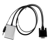 Wholesale 1080P VGA To HDMI Output USB Audio TV AV HDTV USB Cable Audio Video Cable Converter Adapter