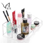 Wholesale Fashion Clear Acrylic Crystal Cosmetic Organizer Makeup Case Holder Storage Box Gift cosmetic storage
