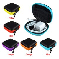 Wholesale 5 color Earphone Headphone bags Earbud Carrying Storage Bag Pouch Hard Case Coin Bags Wallets for charger cable