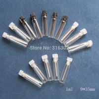 100 / lot 1ml parfum mini flacon en verre, flacons petits échantillons de parfum, testeur de parfum bouteille