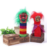 Wholesale Fool prank playing out funny scary evil terrorist quirky gifts novelty jump pop up to wooden box