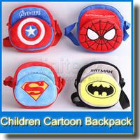 Wholesale Baby Cute Styles Super Hero Captain America Bat Man School Bags Children Lovely Movie Star Bags for School Kids Backpack New