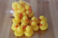 Cheap Cheap funny Baby Bath Water Toy toys Sounds Yellow Rubber Ducks Kids Bathe Children Swimming Beach Gifts 200pcs DHL free