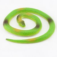 Wholesale Piece Halloween Gift Tricky Funny Spoof Toy Simulation Soft Scary Fake Snake Horror Toy Rubber Halloween Gift Decoration Props