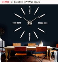Cheap Top new creative DIY wall clock up to 90cm diameter for saloon drawing meeting room with Japan original movement