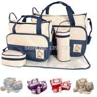 Wholesale Hot Sale Mother Infanticipate Mummy Babies Bags Nappy Bag Multifunctionaldouble shoulder Cross body Piece Set Messenger Bag G0289
