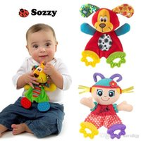 baby sound developmental - new baby toy sozzy newest cute animal colorful placate towel with teether sound paper developmental toys