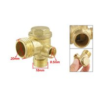 Wholesale x New Gold Tone quot Female Thread Tube Connector Air Compressor Check Valve order lt no track
