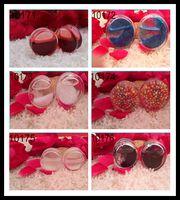 Wholesale acrylic liquid ear plug Single Flared Ear Gauge Piercing Jewelry hot sale free shiping