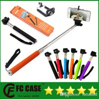 Wholesale Factory Price Z07 Extendable Handheld Monopod Selfie Stick Cell Phone Clip holder For iPhone Samsung Sony Camera Monopods