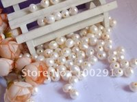 Wholesale Stock Items Promotion Free ship white color mm with mm hole loose natural freshwater pearl beads
