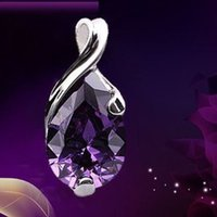 amethyst magic - Hot Charming Simulated Amethyst Pendants for Women Water Drop Shape Magic Beads Pendant Good Valentine s Day Gift