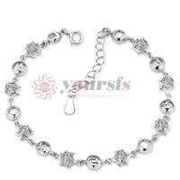 925 sterling silver bracelet - 2015 New Arrival Sterling Silver Bracelets With AAA Grades Purple Cubic Zirconia Link Bracelet Chains Braclets