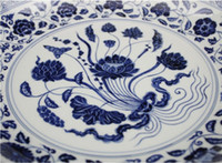 Wholesale The Chinese characteristic a set of six blue and white plates Hand painted blue and white porcelain tableware
