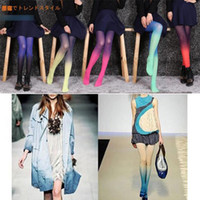 change over - neon harajuku tights pantyhose Japanese changed color tights for women velvet warm spring autumn pantyhose and stockings AC001
