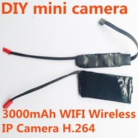 Wholesale 4000mAh Hot Selling Hidden WIFI Video Camera Module Wireless IP Camera with Long lens Phone Table Computer Supported