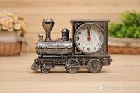 antique office desks - Home office Decor Alarm Clock Unique Chrismas Gift Antique Style locomotive Desk Mini Train Clock