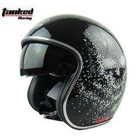 authentic international - Helmet Retro Black Germany Half Built Small Lens Retro Casco International Brands Authentic Helmets Gender Helmet Retro Black