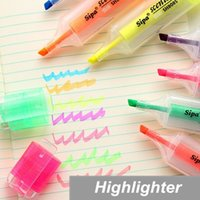 Wholesale 21 Marker Highlighter pen for reading book Fragrant Fluorescent pen office accessories Stationary School supplies