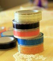 Wholesale 10 DIY Cute Lace PVC Tape Sweet Sticker for Decor Scrapbooking Album Gift Korea Stationery Designer