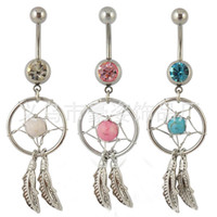 Wholesale 2016 Hot Dream Catcher Jewelry Dangling Belly Button Navel Ring Body Piercing Jewelry
