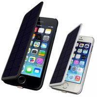 battery protection iphone - Full Protection Leather Flip Solar Power Charger External Battery Backup Charger Case mAh For iPhone s Inch Power Bank