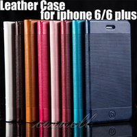 Cheap Leather Case for iPhone 6 4.7 Plus 5.5 inch Stand Wallet Style PU Photo Frame Phone Cover Credit Card Bag iphone6 4.7'' 5.5'' protect case