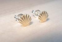beach seashells - 1Pair S038 Gold Silver Sea Shell Earrings Seashell Stud Earrings Beach Conch Earrings Nautical Ariel Mermaid Studs Jewelry