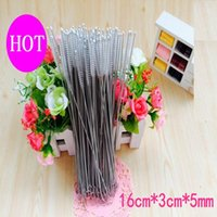 Wholesale DHL straw brush Straw Cleaning Brushes Round Pipe Cleaning Wire Brush Milk Bottle Brushes